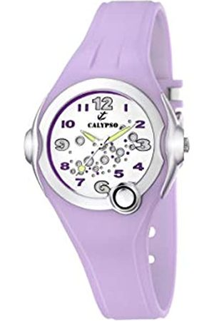 Calypso Girl's Quartz Watch with White Dial Analogue Display and Plastic Strap K5562/4