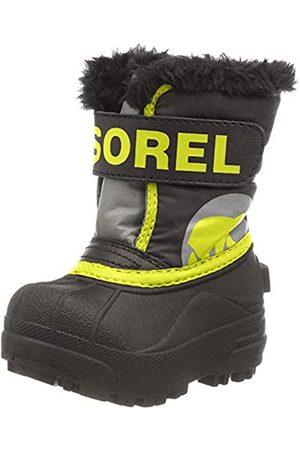 sorel Baby Unisex Boots, TODDLER SNOW COMMANDER, Dark / (Warning )