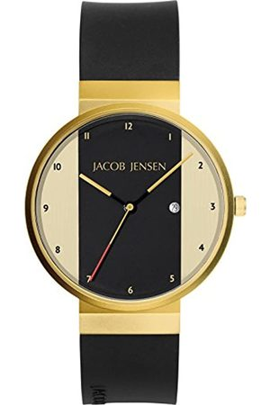 Jacob Jensen Unisex Analogue Classic Quartz Watch with Rubber Strap JJ734