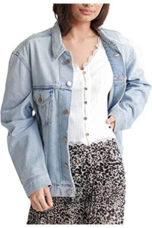 Superdry Women's Boyfriend Trucker Jacket Denim, (Chalk Fu4)