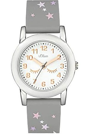 s.Oliver Girl's Analogue Quartz Watch with Silicone Strap SO-3998-PQ
