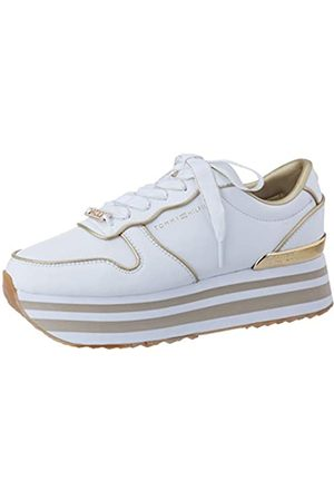 Tommy Hilfiger Women's Metallic Flatform Sneaker Low-Top, ( Ybs)