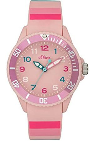 s.Oliver Girl's Analogue Quartz Watch with Silicone Strap SO-4003-PQ