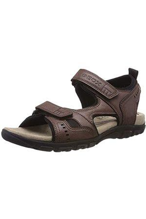 Geox Men's Uomo Sandal Strada A Open Toe, (Coffee C6009)