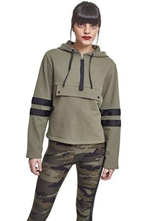 Urban classics Women's Ladies Peached Terry Troyer Hoody Hooded Sweatshirt