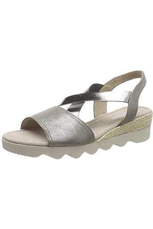 Gabor Shoes Women's Comfort Sport Ankle Strap Sandals, (Marder (Jute) 23)