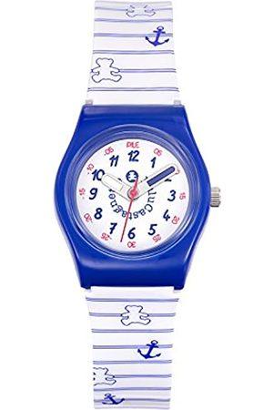 Lulu Castagnette Girls Analogue Quartz Watch with Plastic Strap 38774