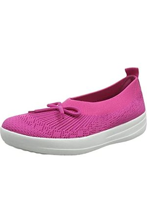 FitFlop Women's Uberknit Slip ON Ballerina with Bow Closed Toe Ballet Flats, (Psychedelic Mix 676)