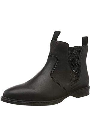 Rieker Women's 72460-00 Chelsea Boots, (Schwarz/Schwarz/Schwarz 00)