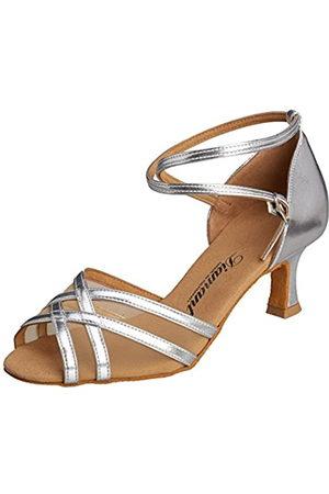 Diamant Women's Damen Latein Tanzschuhe Ballroom Dance Shoes, (Silber)