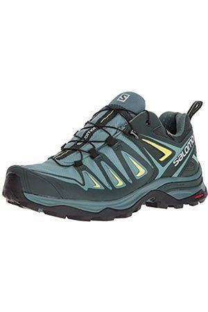 SALOMON Women's Ultra 3 GTX Low Rise Hiking Shoes, Multicolor (Artic/Darkest Spruce/Sulphur Spring)
