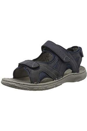 Josef Seibel Men's Carlo 10 Ankle Strap Sandals, (Dunkelblau-Kombi Te170 506)