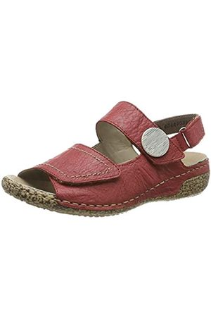 Rieker Women's V7272-33 Closed Toe Sandals, (Rosso 33)