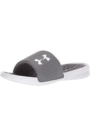 Under Armour Men's Playmaker Fixed Strap Slide Beach & Pool Shoes, (Graphite// (101) 101)
