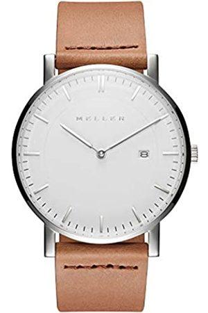 MELLER Unisex Adult Analogue Quartz Watch with Leather Strap 1B-1CAMEL1
