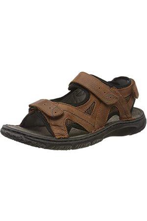 Josef Seibel Men's Carlo 10 Ankle Strap Sandals, (Castagno-Kombi Te170 351)