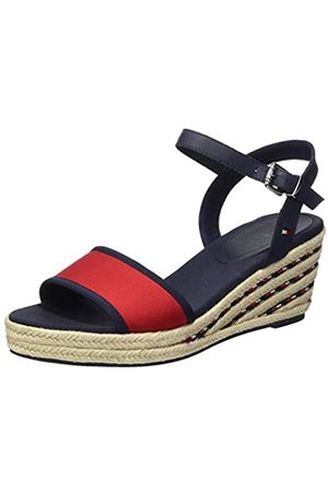 Tommy Hilfiger Women's Sporty Textile Mid Wedge Closed Toe Sandals, (Sport Navy Db9)