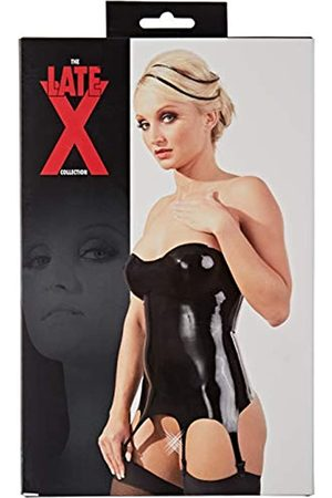Late X Women's 29011611 Strapless Garter Top-The Latex Collection Large