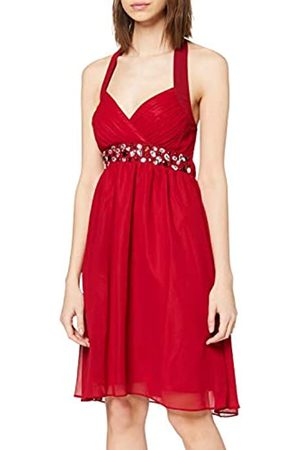 My Evening Dress Women's Emily Knee-Length Plain Halterneck Dress