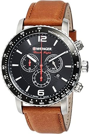 Wenger Unisex Chronograph Quartz Watch with Leather Strap 01.1843.104