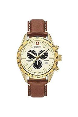 Swiss Military Hanowa Unisex Adult Analogue Quartz Watch with Leather Strap 06-4314.02.002