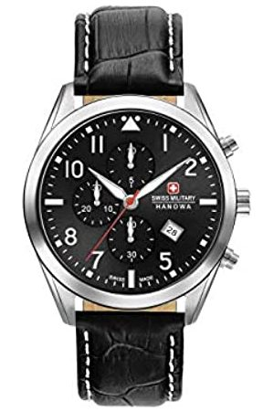 Swiss Military Mens Chronograph Quartz Watch with Leather Strap 06-4316.04.007