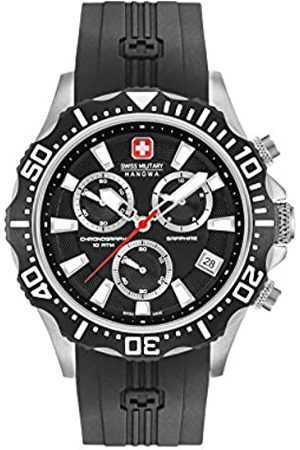 Swiss Military Mens Multi dial Quartz Watch with Silicone Strap 06-4305.04.007