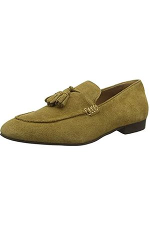 H by Hudson Men's Bolton Suede Loafer, (Camel 27)