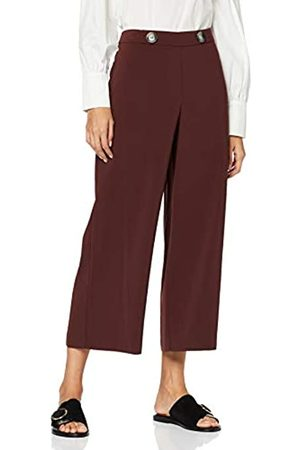 Dorothy Perkins Women's Crepe Crop Wide Leg Chocolate Trousers
