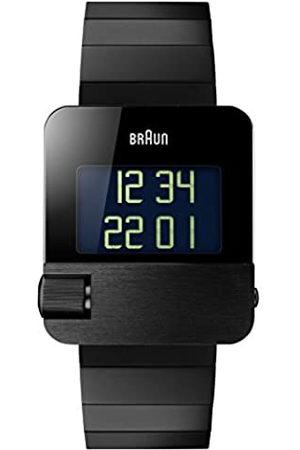 von Braun Men's Prestige Watch with Digital Display Plated Stainless Steel Case and Steel Strap BN0106BKBTG