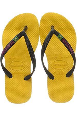 Havaianas Girls' Slim Brasil Logo Flip Flops, (Banana 1652)