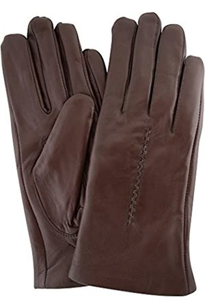 """Snugrugs Womens Butter Soft Premium Leather Glove with Woven Stich Design & Warm Fleece Linning - - Large (7.5"""")"""