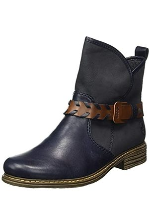Rieker Women's Herbst/Winter Ankle Boots, (Navy/mare/Mogano 14)