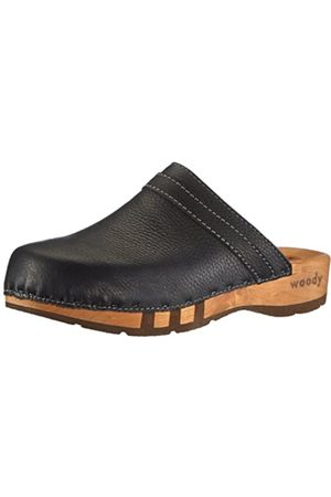 Woody Men's Harry Clogs, (Schwarz)