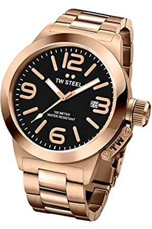 TW Steel Canteen Unisex Quartz Watch with Dial Analogue Display and Rose Stainless Steel Rose Plated Bracelet CB403