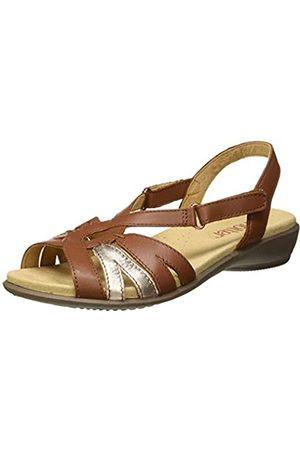 Hotter Women's Flare Sling Back Sandals, (Dark Tan Multi 305)
