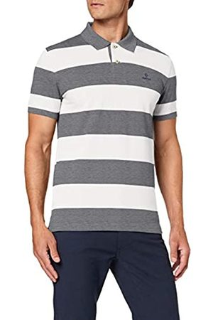 GANT Men's D1.Contrast Barstripe Ss Pique Polo Shirt