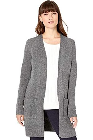 Amazon Essentials Jersey Stitch Open-front Sweater Charcoal Heather