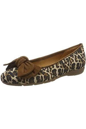 Gabor Shoes Women's Casual Ballet Flats, (Natur/New Whisky 32)