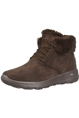 Skechers Women's ON-The-GO Joy Ankle Boots, Suede/Trim Chocolate