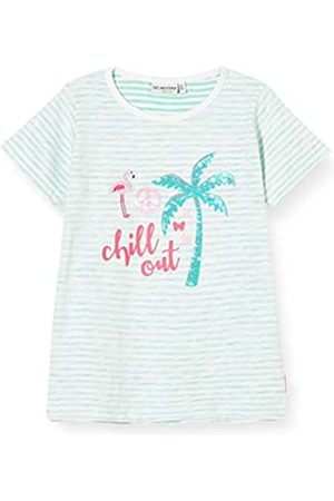 Salt & Pepper Salt and Pepper Girls' Palmen Druck mit Flamingo Applikation und Pailletten T-Shirt