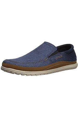 Crocs Men's Santa Cruz Playa Slip-On Loafers, (Navy/Cobblestone 4ft)