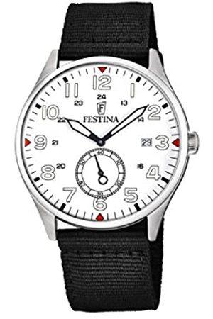 Festina Men's Quartz Watch with Dial Analogue Display and Black Nylon Strap F6859/2