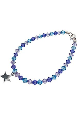 Chic A Boo Children's Sterling Star and Swarovski Crystal 6 Inch Bracelet