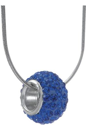 Carlo Monti Women's Necklace with Pendant Rhodium-Plated with 45 cm Snake Chain-Coloured Zirconia Barrel Pendant JCM 1120–428 Dark