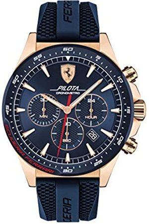 Scuderia Ferrari Mens Chronograph Quartz Watch with Silicone Strap 0830621