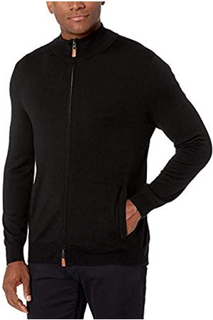 Buttoned Down Italian Merino Wool Full-zip Sweater