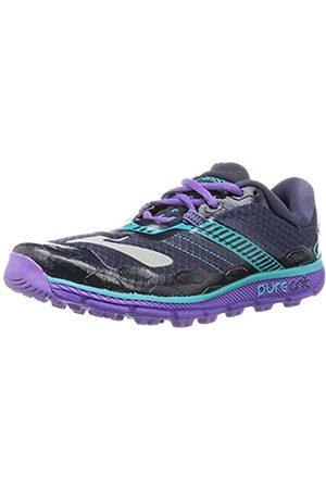 Brooks Women's PureGrit 5 Running Shoes, Multicolor (Peacoat/Passion Flower/Ceramic)