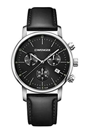 Wenger Unisex Chronograph Quartz Watch with Leather Strap 01.1743.102