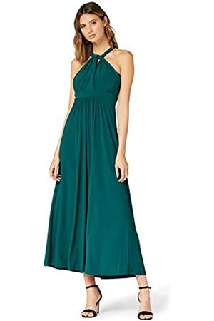 TRUTH & FABLE Amazon Brand - Women's Maxi Halter Dress, 14